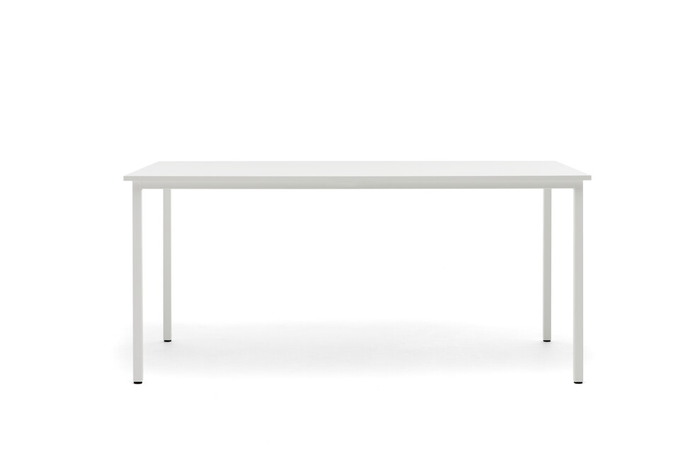Gispen UT table with white frame and tabletop front view