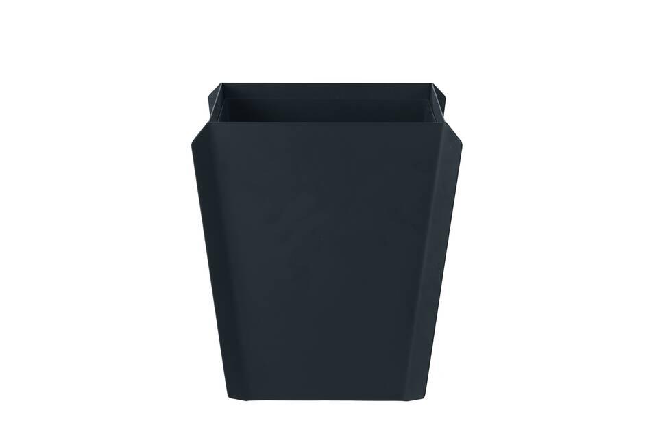 Gispen Binit waste bin black front view