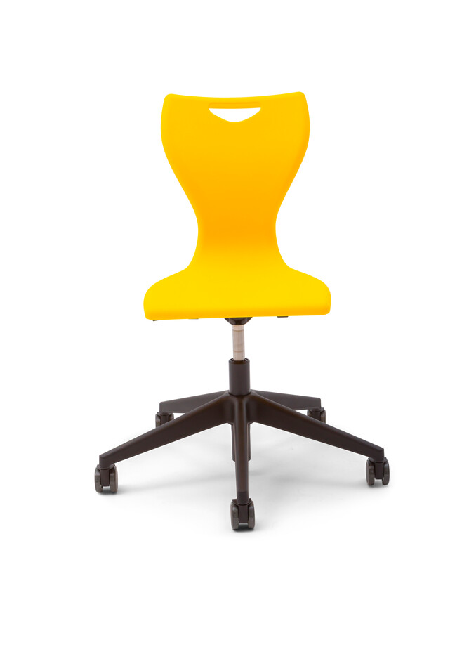 Gispen EDUU Work Slim chair with yellow shell front view