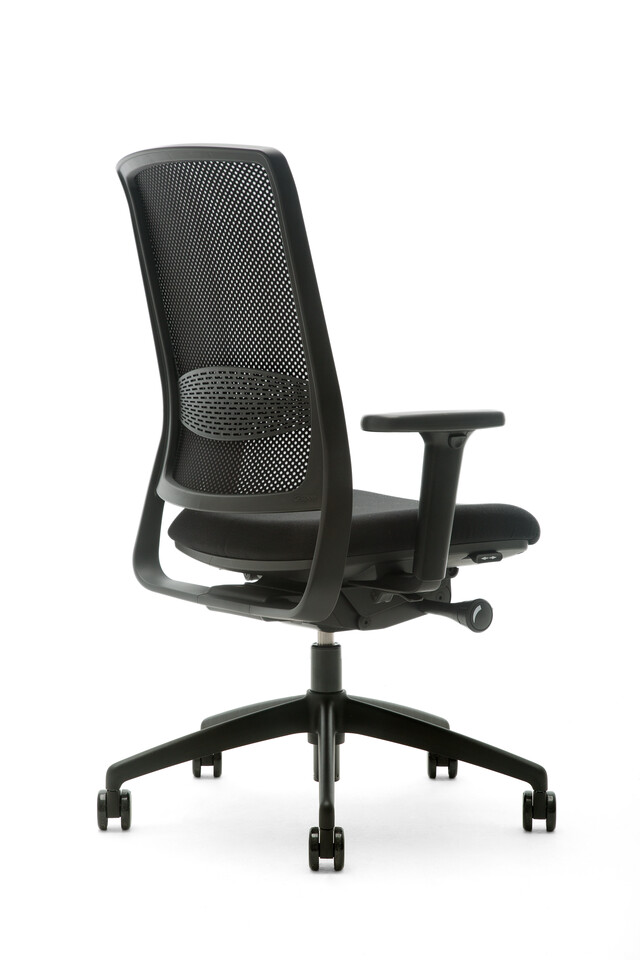 Gispen Zinn Smart 35BK office chair rear left view
