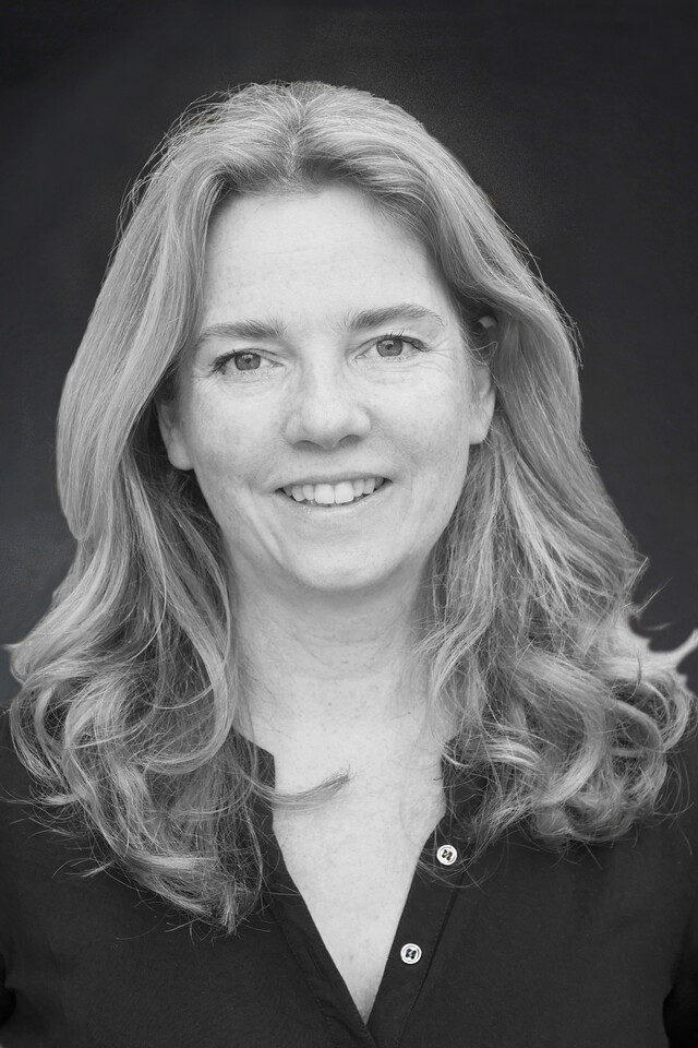 black and white portrait of Marieke Kamperman