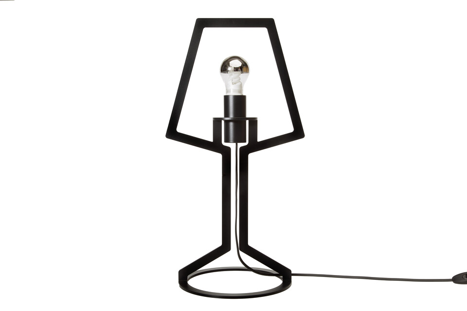 Gispen Outline tablelamp 53 in black front view