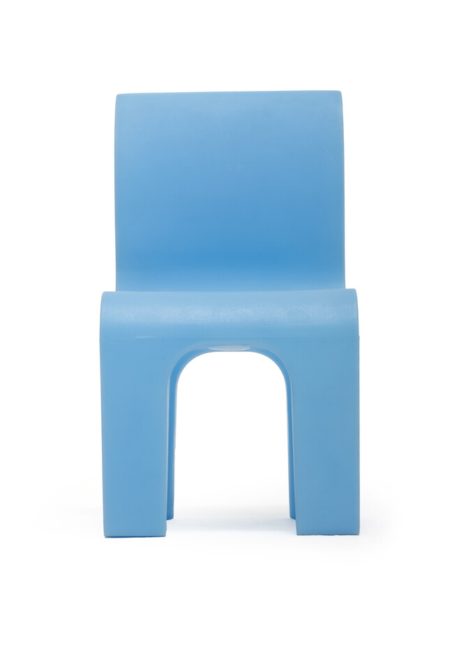 Gispen Bronto chair lightblue front view