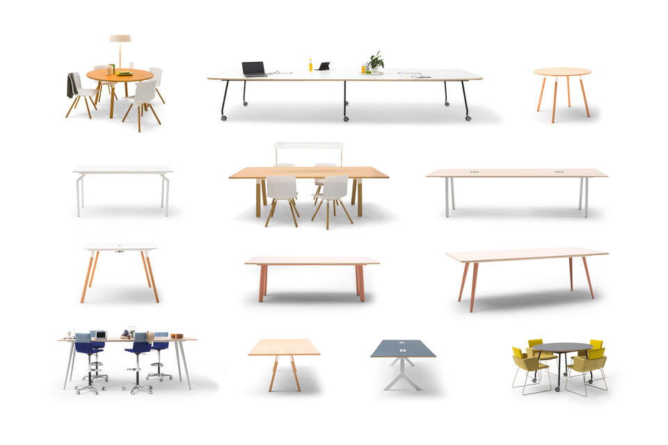 Gispen TEAM table collection front view
