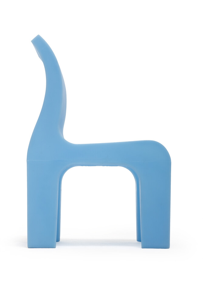 Gispen Bronto chair lightblue side view