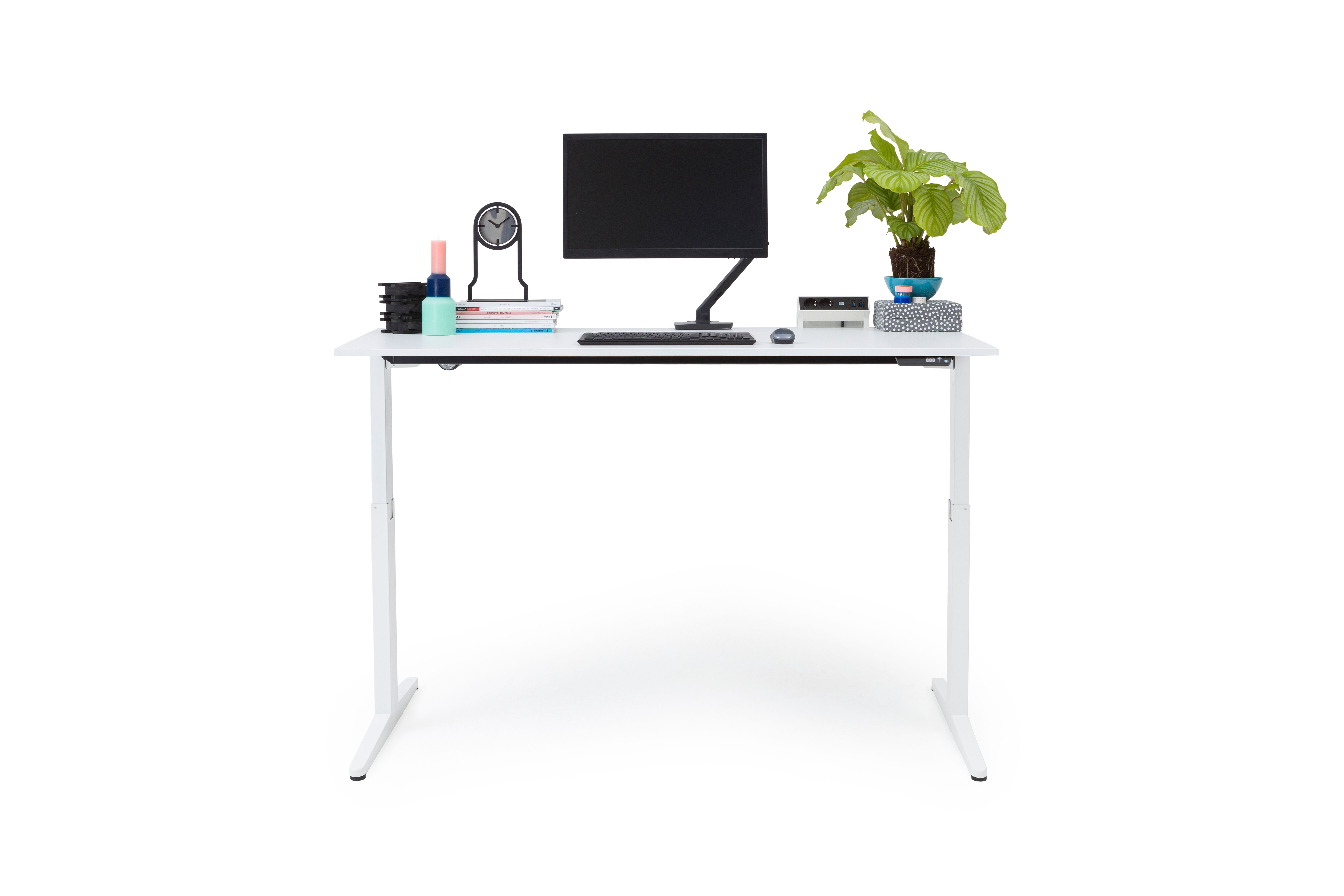 Gispen Home office desk sit stand front view