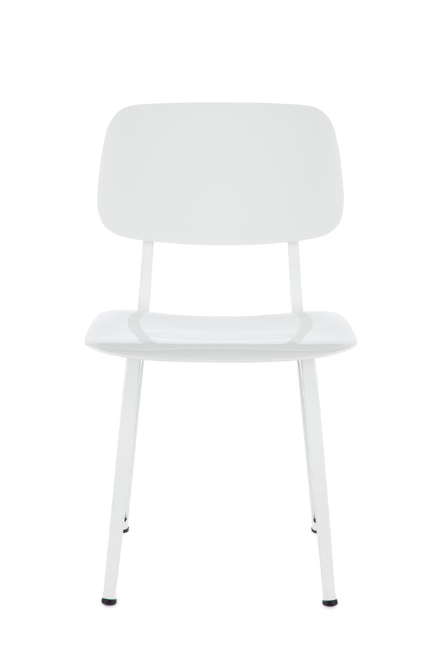 Royal Ahrend Revolt chair in white front view