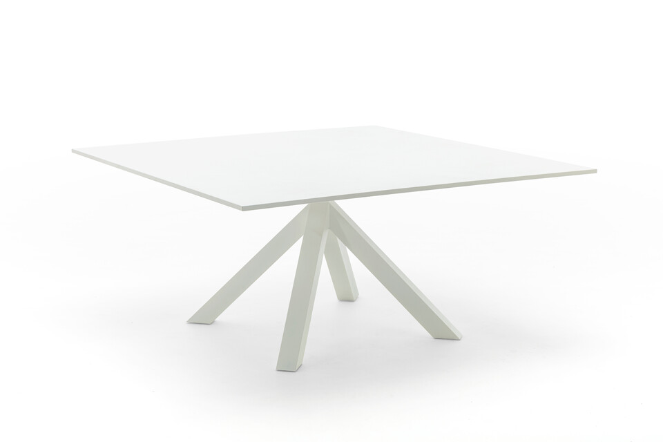 Gispen Dukdalf table square 160 white front right view