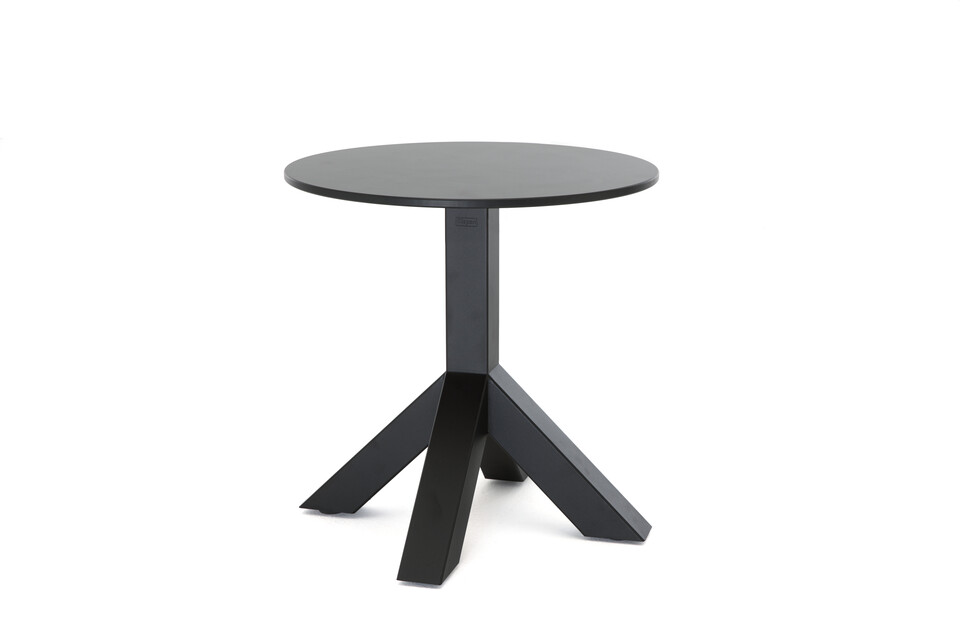 Gispen Dukdalf sidetable round 50 black front right view