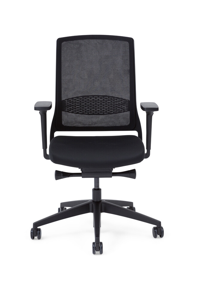 Gispen Zinn Smart 20 office chair upholstered in black front view
