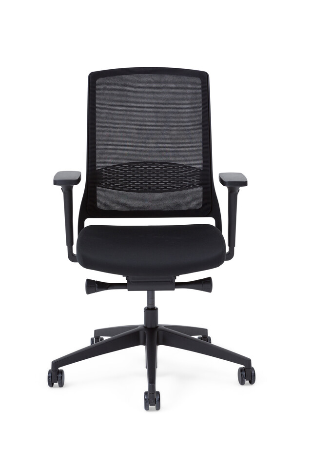 Gispen Zinn Smart 20 office chair upholstered in black front view