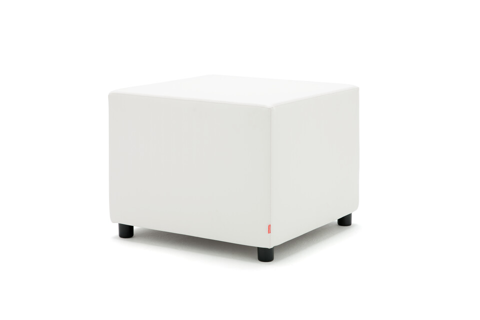Gispen Asido stool square in white front right view
