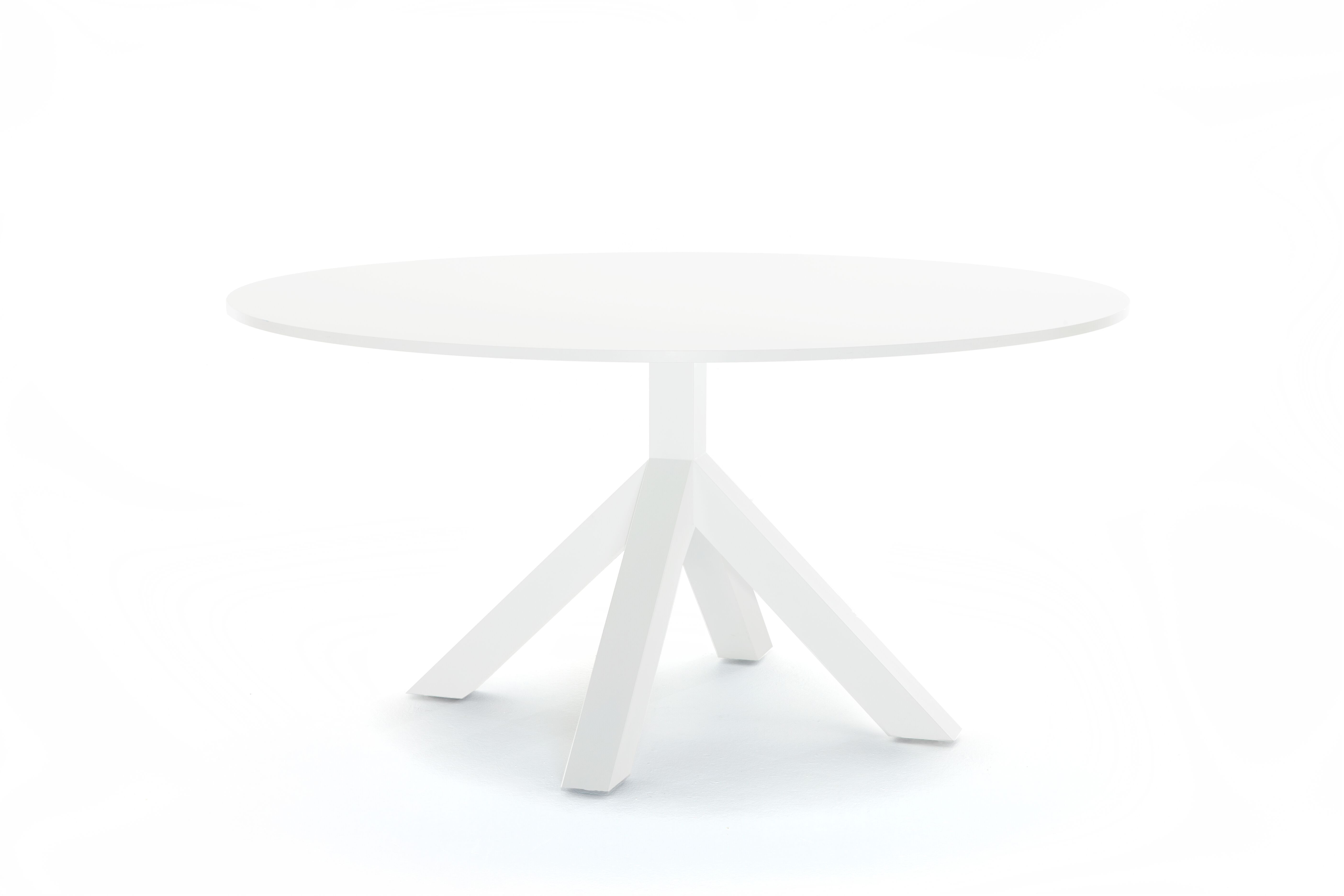 Gispen Dukdalf table round 160 white front right view