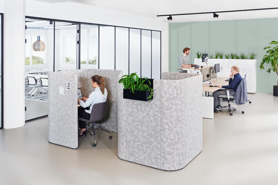 Gispen sfeer back office thema kantoor zorg