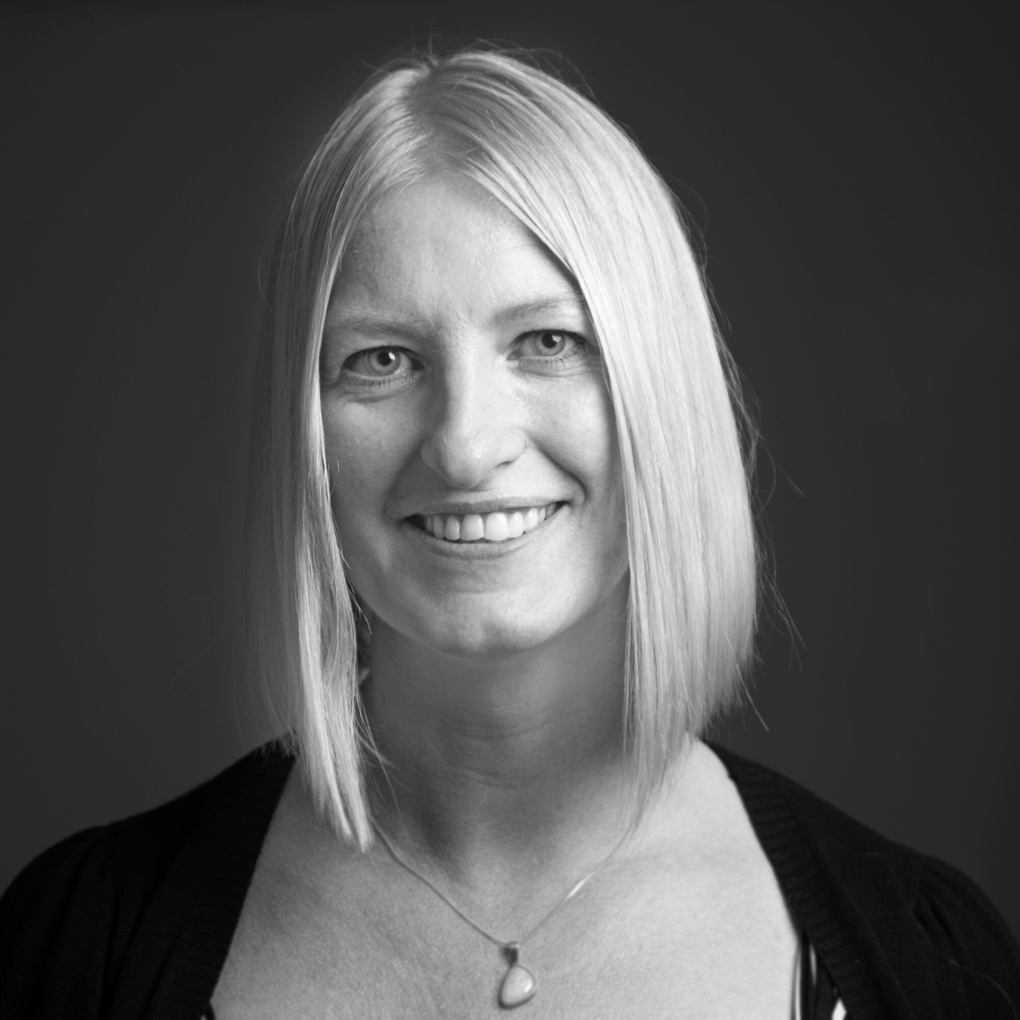 black and white portrait of Diane van Veen