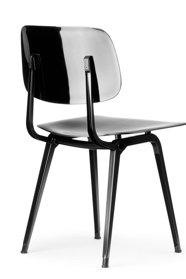 Royal Ahrend Revolt chair in black left rear view