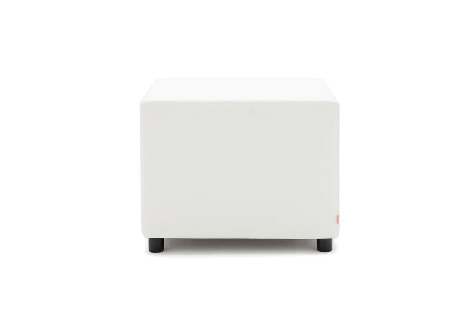 Gispen Asido stool square in white front view