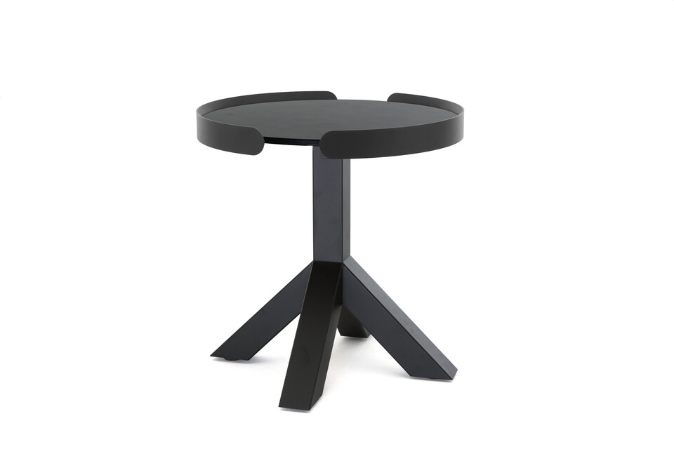 Gispen Dukdalf sidetable round 50 black edge black front right view