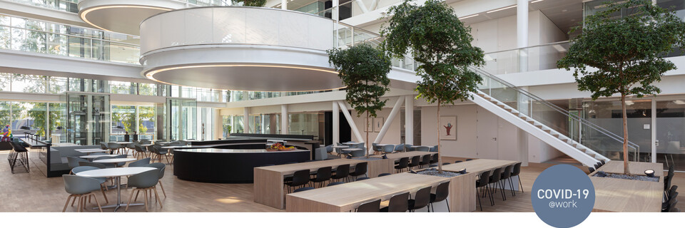 Royal Ahrend office project Genmab in Utrecht with Covid 19 label SP15