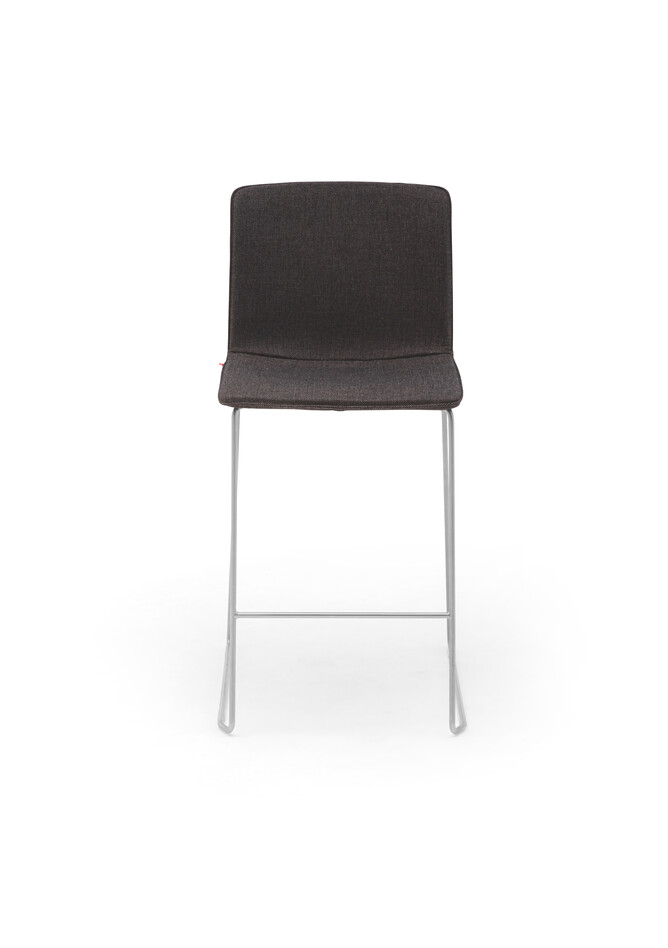 Gispen Nomi High 65 barstool with brown cover front view