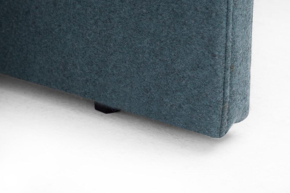 Gispen SEPP floorpanel upholstered in turquoise front left detail view