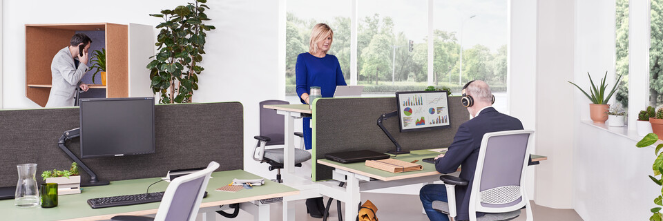 Gispen sfeer back office thema kantoor
