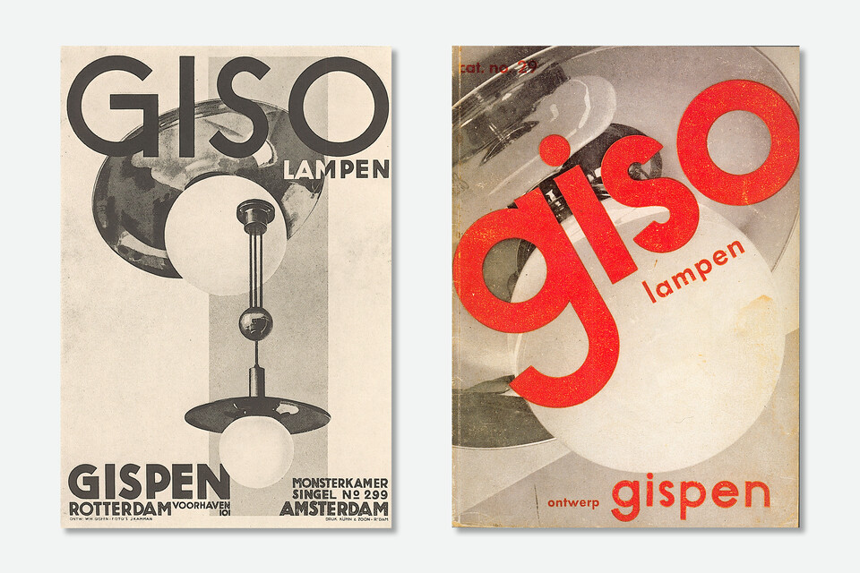 Gispen GISO lampen brochure covers