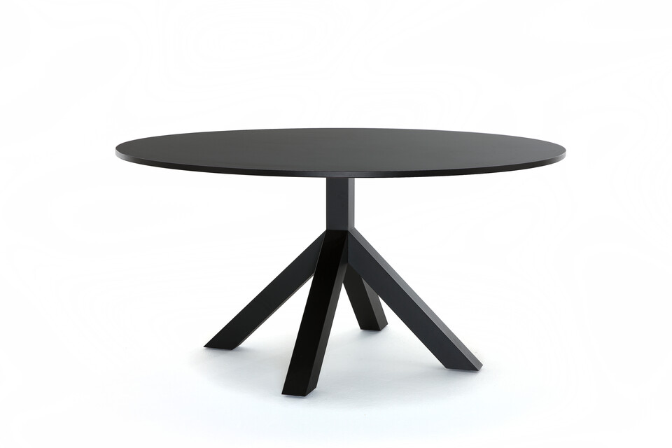Gispen Dukdalf table round 160 black front right view