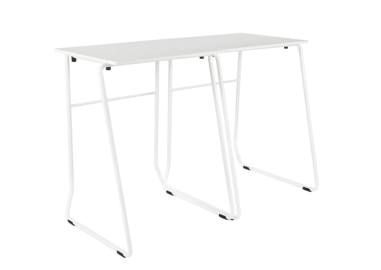 Royal Ahrend 456 seminar tables in white coupled front left view