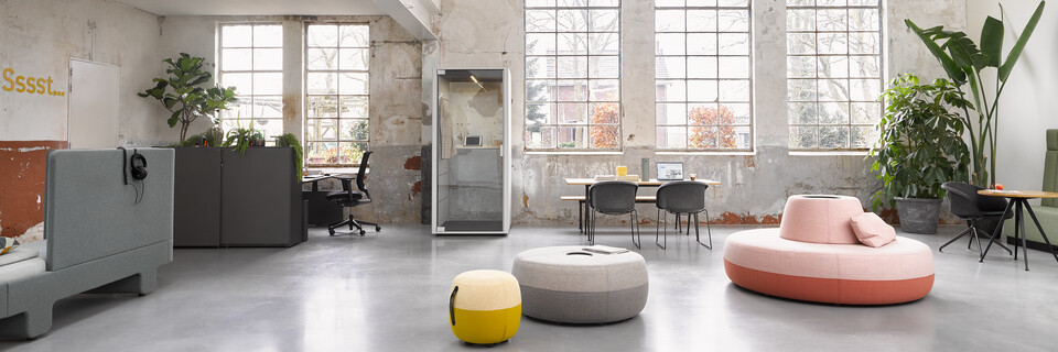 Loungescape Powernap, Sliding Door Cabinet, Balance, Ease, Qabin Call, Pyramid, Well Armchair, Recharge 45, Recharge 100, Recharge 165, Revolt, Engage