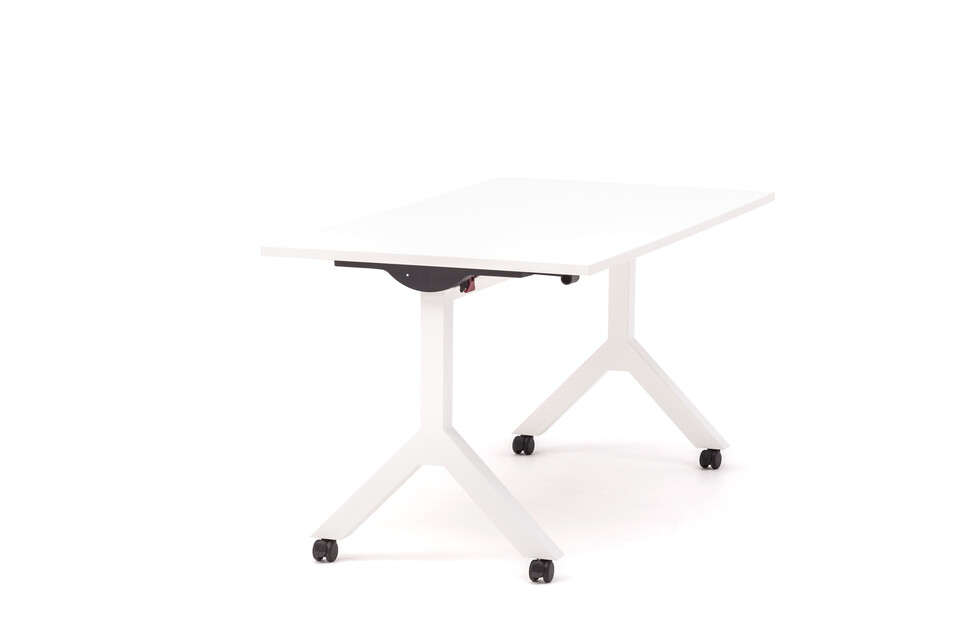 Gispen Dukdalf folding table 160 80 white front right view