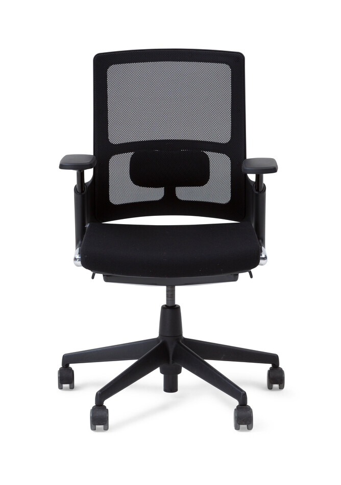 Royal Ahrend 2020 Verta office chair upholstered in black front view