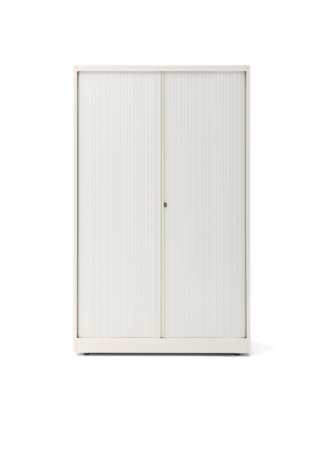 Gispen Meta tambour cabinet in white front view