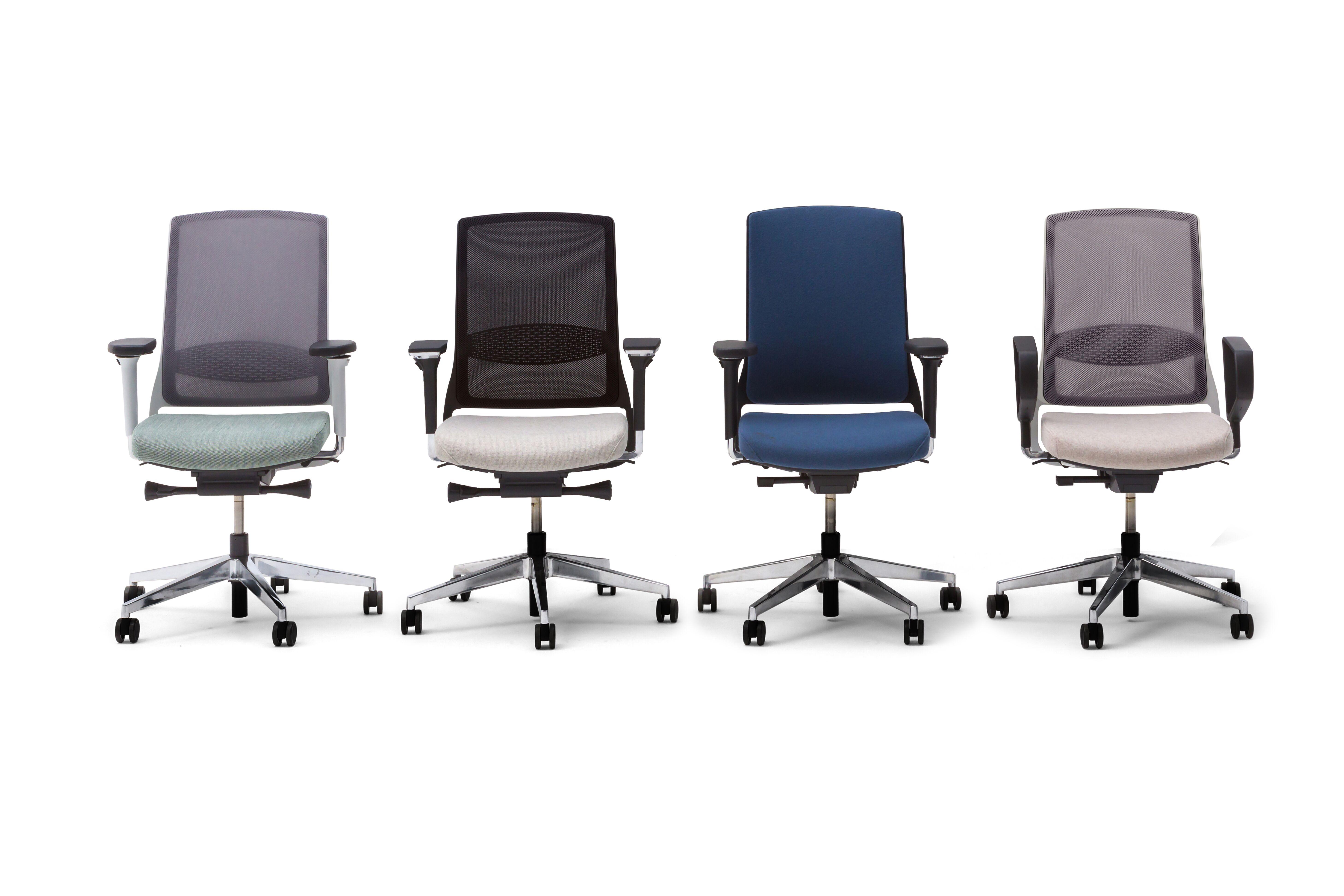 Gispen Zinn office chairs front view