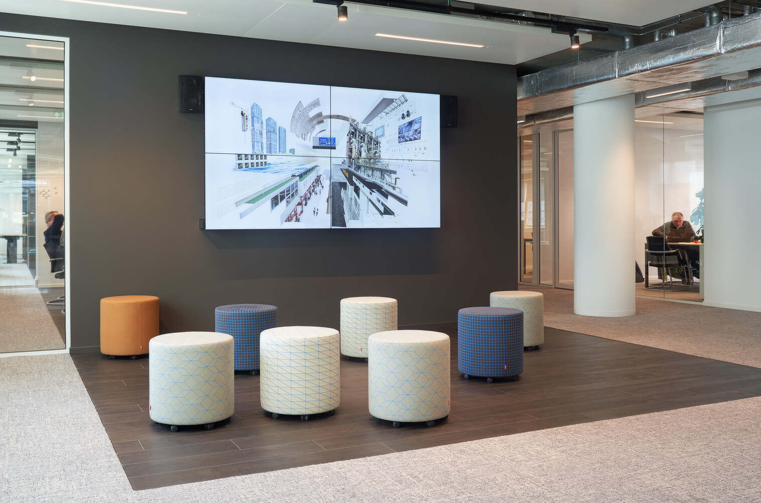 Gispen office project Croonwolter dros in Rotterdam GVBG046