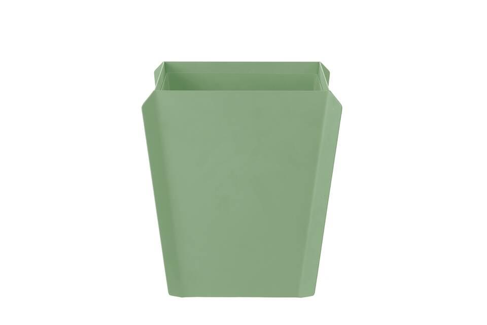 Gispen Binit waste bin green front view