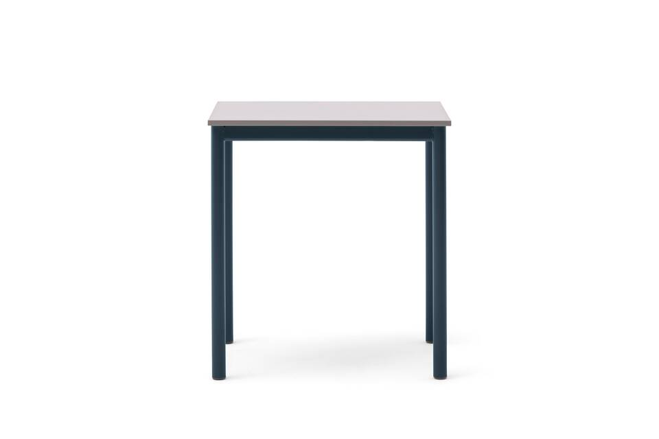 Gispen Eduu Classic table with green frame and grey tabletop front view