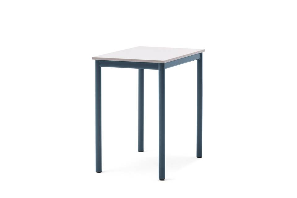 Gispen Eduu Classic table with green frame and grey tabletop front left view
