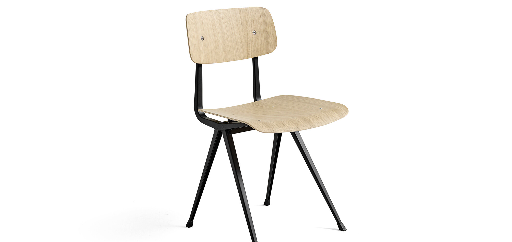 197131_Result Chair_Frame black_Seat Back matt lacquered oak