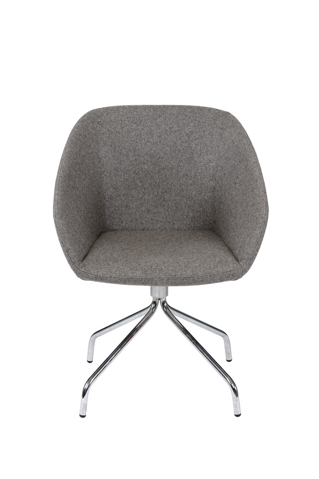 Royal Ahrend Hesta P10 armchair upholstered in grey front view